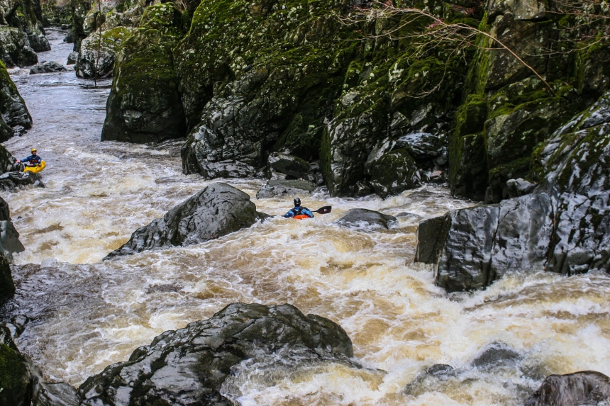 Kayaking on the Afon Conwy, Fairy Glen